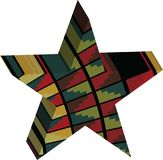 Abstract designed colorful star 3D Stock Image