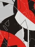 Abstract designs. An illustration of abstract red, black and gray designs Stock Photo