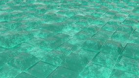 Abstract designs of bricks. In colour of ocean water Royalty Free Stock Photography