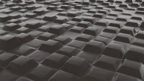 Abstract designs of brown leather. Endless concrete structures covered with brown leather. Looks like chocolate Royalty Free Stock Photography