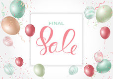 Abstract Designs Final Sale Banner Template with Frame. Vector I. Llustration EPS10 Stock Photo