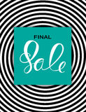 Abstract Designs Final Sale Banner Template with Frame. Vector I. Llustration EPS10 Royalty Free Stock Photo