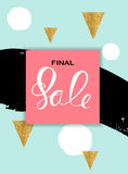 Abstract Designs Final Sale Banner Template with Frame. Vector I. Llustration EPS10 Royalty Free Stock Photography