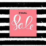 Abstract Designs Final Sale Banner Template with Frame. Vector I. Llustration EPS10 Royalty Free Stock Image