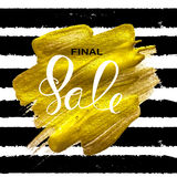 Abstract Designs Final Sale Banner Template with Frame. Vector I. Llustration EPS10 Royalty Free Stock Images