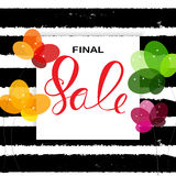 Abstract Designs Final Sale Banner Template with Frame. Vector I. Llustration EPS10 Stock Image