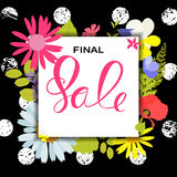 Abstract Designs Final Sale Banner Template with Frame. Vector I. Llustration EPS10 Royalty Free Stock Photos