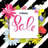 Abstract Designs Final Sale Banner Template with Frame. Vector I. Llustration EPS10 Stock Photography