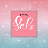 Abstract Designs Final Sale Banner Template with Frame. Vector Illustration. EPS10 Stock Images