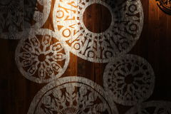 Abstract designs on the wall Stock Images