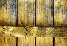 Wood paneling joint Royalty Free Stock Photo