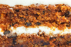Abstract detail of carrot cake with frosting Stock Image