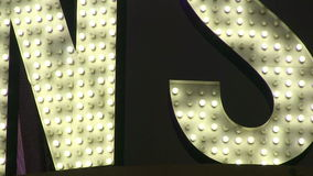 Abstract Detail Marquee Letters Loop. An extreme close up of marquee sign letters stock footage