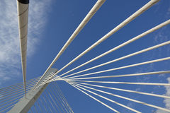 Abstract Detail of Millennium Bridge in Podgorica Royalty Free Stock Photos
