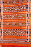 Abstract detail of Moroccan Carpet. Detail of  Moroccon rugs in Marrakesh Stock Photo
