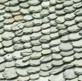 Abstract Detail of Old Slate Roof Tiles Stock Photography