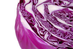 Abstract detail of red cabbage Stock Photos