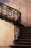 Abstract detail of rustic stairs Royalty Free Stock Photography