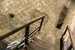 Abstract detail of rusty stairs Stock Image