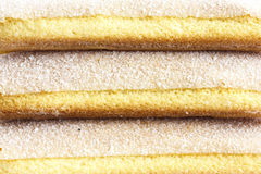 Abstract detail of savoiardi sponge biscuits. Royalty Free Stock Photography