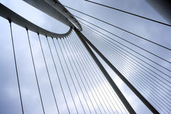 Abstract detail van brug, Moderne architectuur Royalty-vrije Stock Fotografie