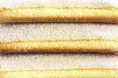 Abstract detail van de koekjes van de savoiardispons Royalty-vrije Stock Fotografie