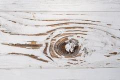 Abstract detail van een witte geschilderde houten raad Royalty-vrije Stock Fotografie