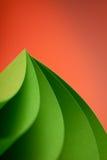 Abstract detail van gegolfte gekleurde document structuur Royalty-vrije Stock Foto's