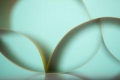 Abstract detail van gegolfte gekleurde document structuur Royalty-vrije Stock Afbeeldingen