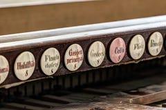 Abstract detail van het oude pijporgaan Royalty-vrije Stock Foto