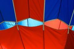 Abstract detail van hete luchtballon Stock Afbeeldingen