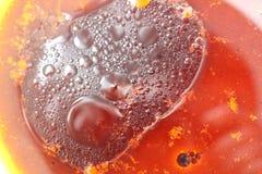 Abstract detail van honing, olijfolie en sojasaus Royalty-vrije Stock Foto