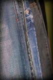 Abstract detail van jeans Stock Afbeelding