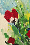 Abstract detail van kleurrijke verf Stock Afbeelding
