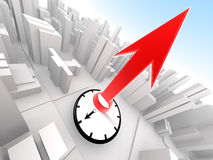 Abstract Detailed City Timer Final Countdown. In 3D Royalty Free Stock Image
