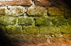 Abstract deteriorating brick wall Royalty Free Stock Photo