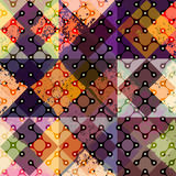 Abstract diagonal geometric pattern with droplet Stock Image