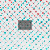 Abstract diagonal lines with colorful dots pattern. Vector illustration stock illustration