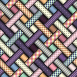 Abstract diagonal plaid background Stock Image