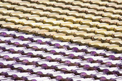 Abstract of Diagonal Rows of Roof Tiles Stock Photos