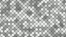 Abstract diagonal square mosaic pattern background - seamless loop motion graphic in grey tones stock video footage