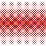 Abstract diagonal square pattern background - vector graphic design from red squares Royalty Free Stock Photography