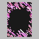 Abstract diagonal stripe pattern brochure template - blank vector flyer background design from stripes in pink tones Royalty Free Stock Photo