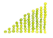 Abstract diagram shaped from fresh pea pods Royalty Free Stock Photo