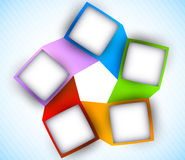 Abstract diagram with squares. Colorful illustration Stock Photography