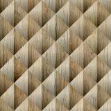 Abstract diamantpatroon - naadloze achtergrond - houten textuur royalty-vrije illustratie