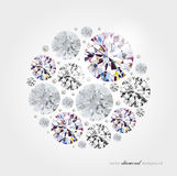 Abstract diamond background Stock Photography