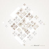 Abstract diamond background Royalty Free Stock Photography