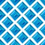Abstract diamond blue seamless background Royalty Free Stock Photo