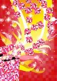 Abstract diamond box Royalty Free Stock Photos